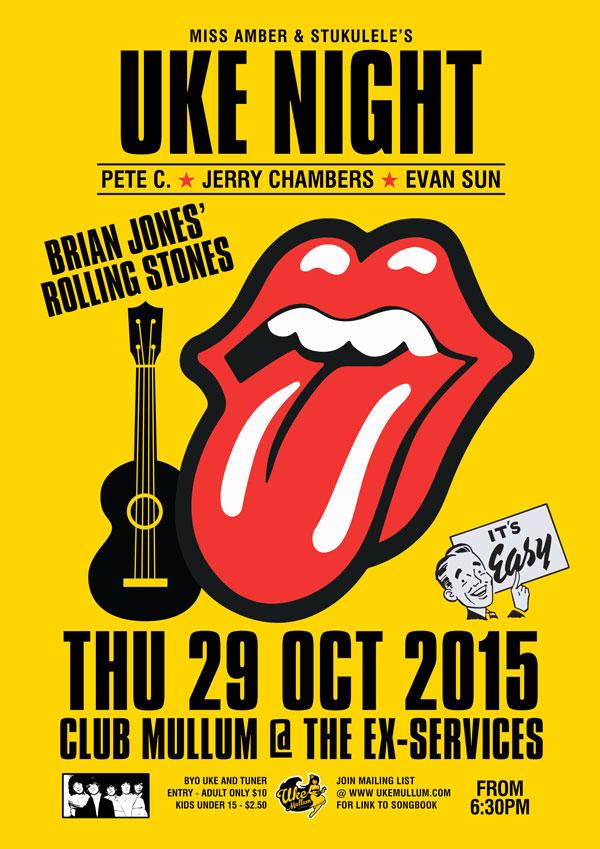 October 2015 Stones Night Uke Mullum