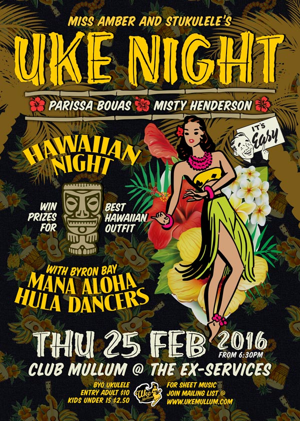 Uke Mullum's Hawaiian Night - Thu 25 Feb 2016