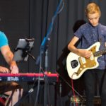 Dan Brown on keys and Sam Sanders on electric guitar